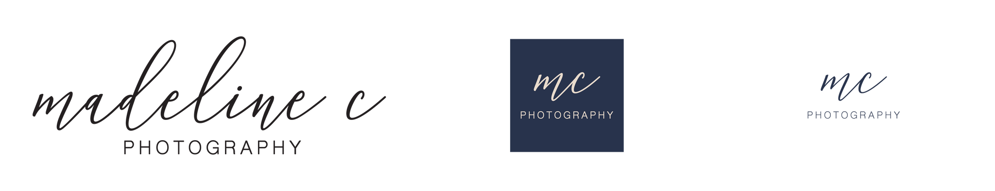 Madeline C Photography logo, 24th Ave Designs logo design