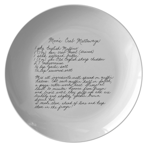 Family Recipe Plate -For Allie Knowles - 24th Ave Designs