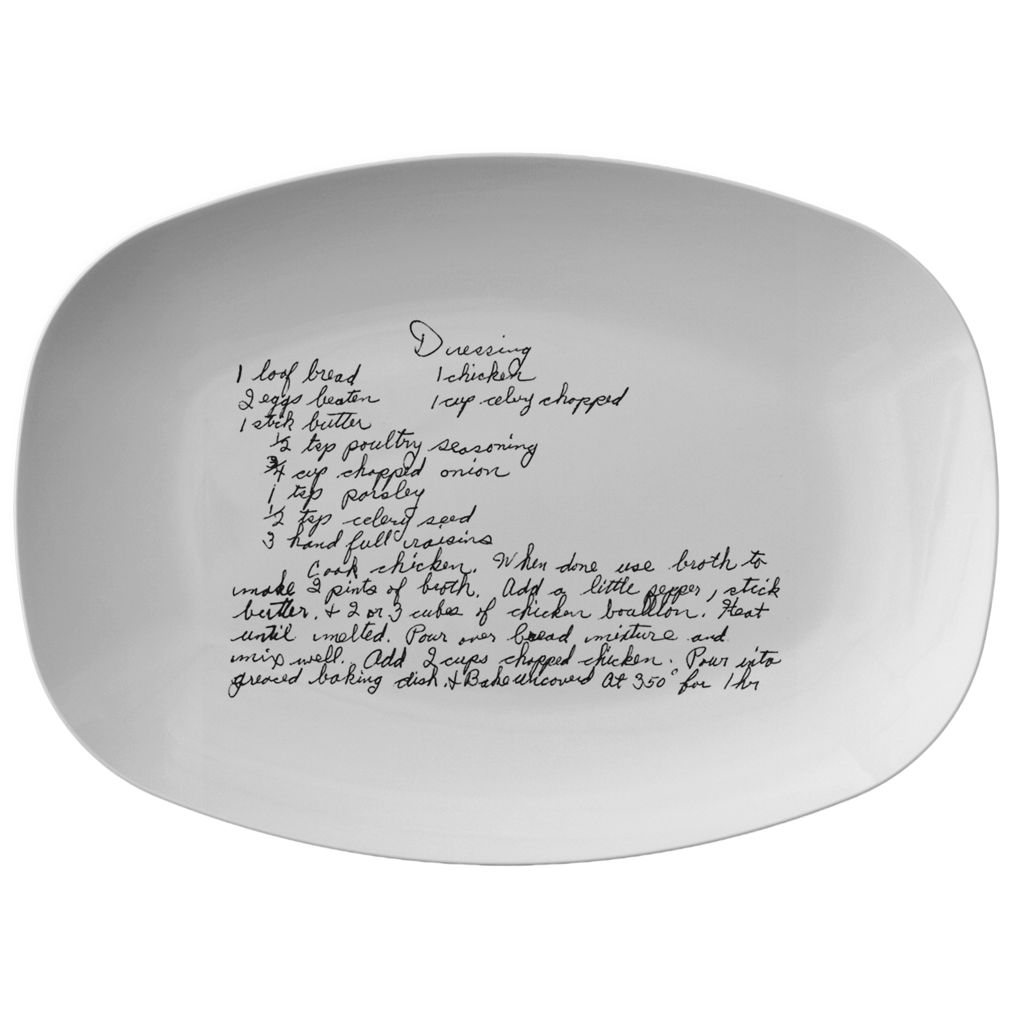 Family Recipe Platter - For Angela M - 24th Ave Designs
