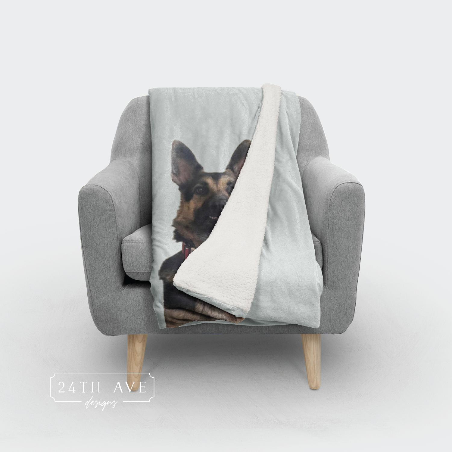 Photo Blanket | Pet photo blanket - 24th Ave Designs