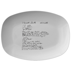 Family Recipe Platter - For Briana Tansey - 24th Ave Designs