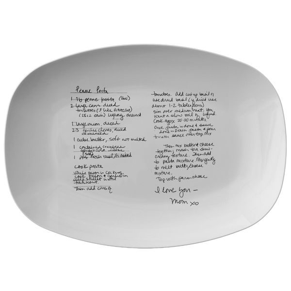 Family Recipe Platter - For Jenna Joki - 24th Ave Designs