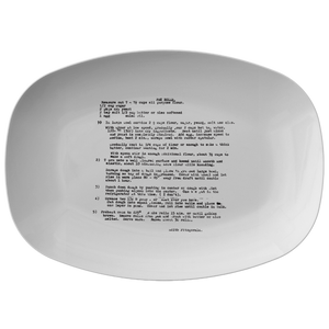 Family recipe platter - For Lin Fitzgerald - 24th Ave Designs