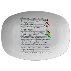 Family Recipe Platter - for Feussner - 24th Ave Designs
