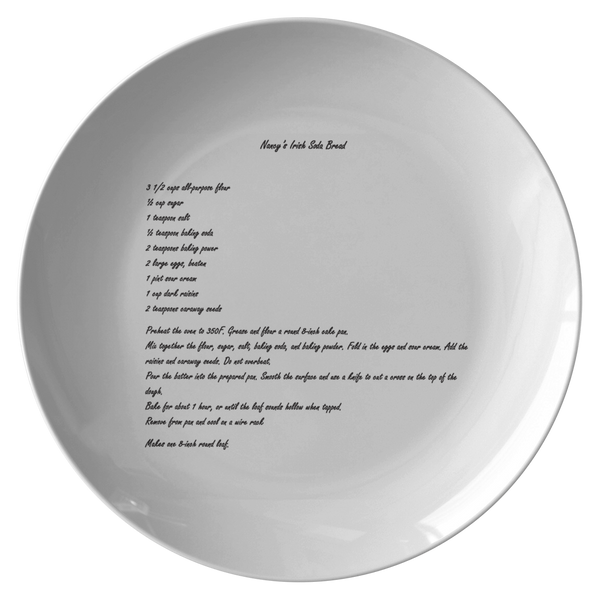 Family recipe plate for Meisse - 24th Ave Designs