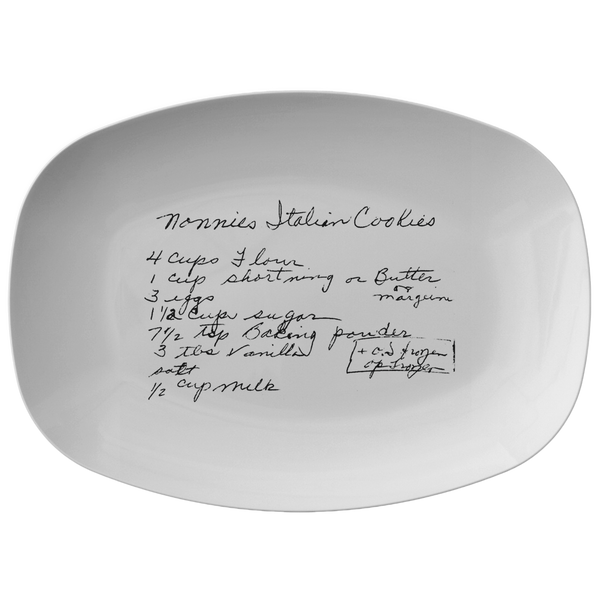 Family Recipe Platter - For Kelly  Kinsella - 24th Ave Designs