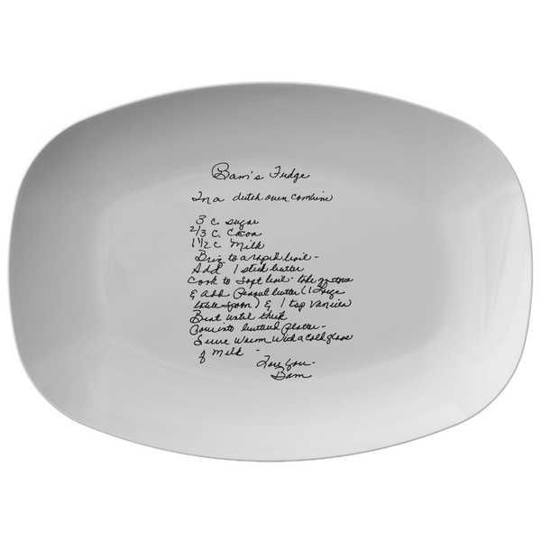 Family Recipe Platter - For Deborah Bartels - 24th Ave Designs