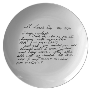 Family Recipe Plate - For Merrill - 24th Ave Designs