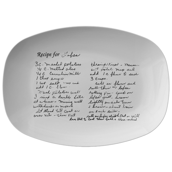 Recipe platter for Asensio - 24th Ave Designs