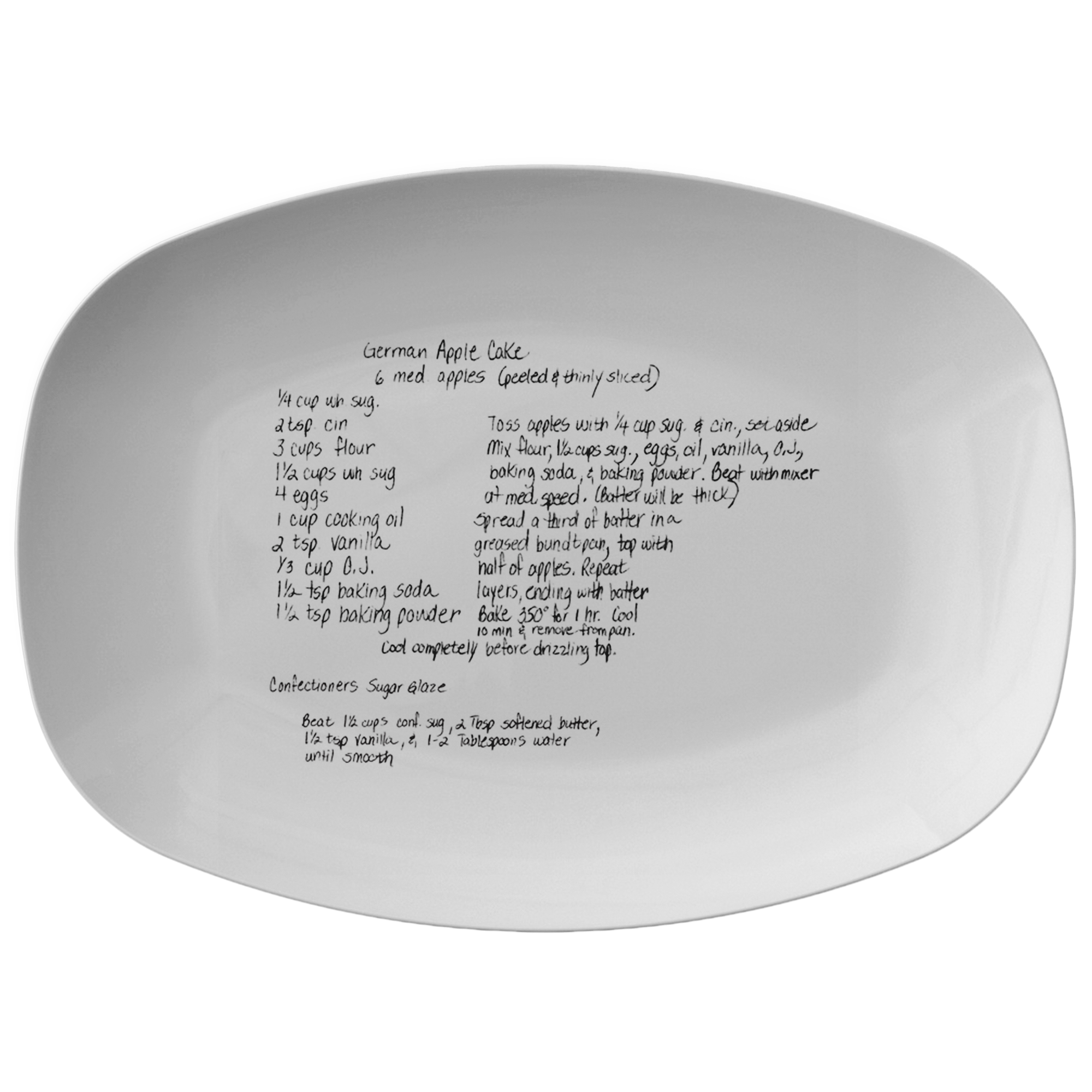 Family Recipe Platter - For Paula Weaver - 24th Ave Designs