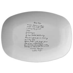 Family Recipe Platter - For Elizabeth C - 24th Ave Designs