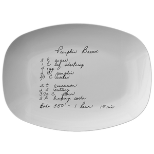 Family Recipe Platter - For Melissa Buck - 24th Ave Designs