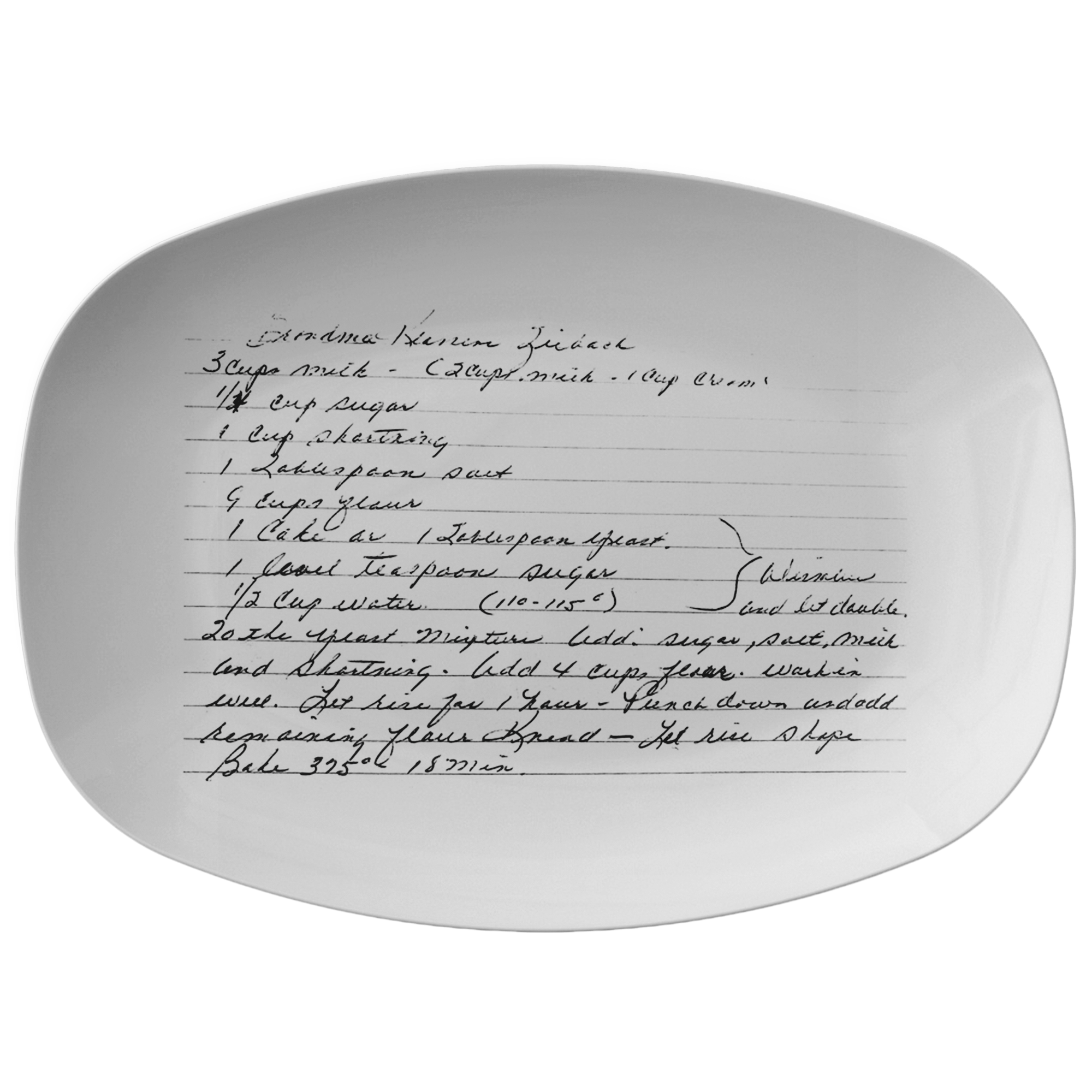 Family Recipe Platter - Slayton - 24th Ave Designs