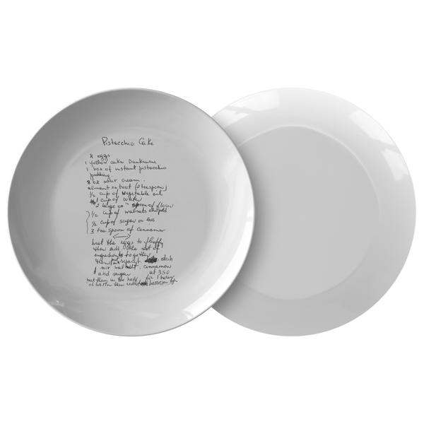 Family Recipe Plate - For Maria M - 24th Ave Designs