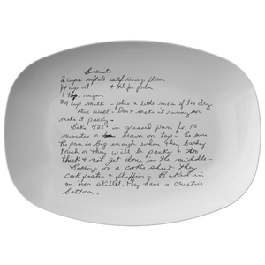 Family Recipe platter - For Anita Dake - 24th Ave Designs