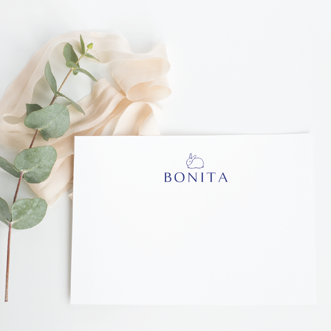 Personalized Stationery - Folded Card - 24th Ave Designs