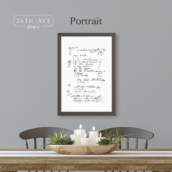 Family Recipe - Framed Canvas - 24th Ave Designs