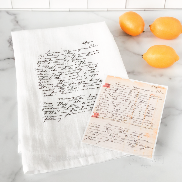 Family recipe Tea Towel - 24th Ave Designs