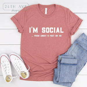 I'm Social ... from about 6 feet or so - 24th Ave Designs