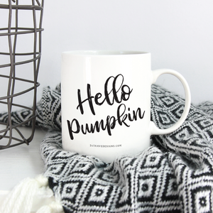 hello pumpkin coffee mug, hello pumpkin mug, hello pumpkin