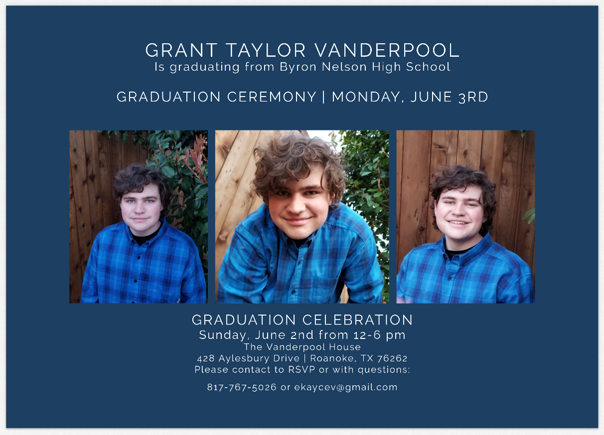 Grant Graduation - 24th Ave Designs