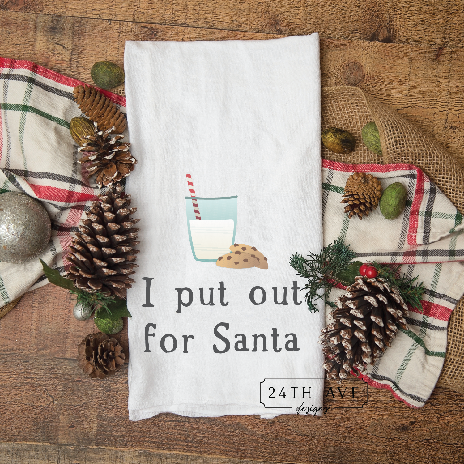 I put out for Santa, towel, funny tea towel, funny santa,