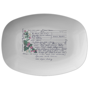 Family Recipe Platter - For Karen Frischman - 24th Ave Designs