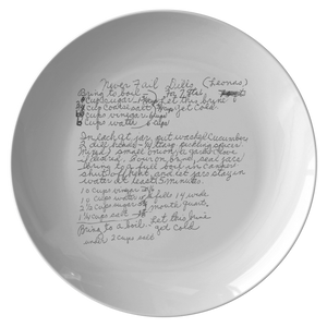 Family Recipe Plate - For Beth Fleishman - 24th Ave Designs
