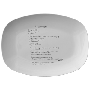 Family Recipe Platter - For Benjamin B - 24th Ave Designs