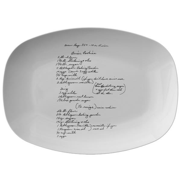 Recipe platter for Minnigerode - 24th Ave Designs