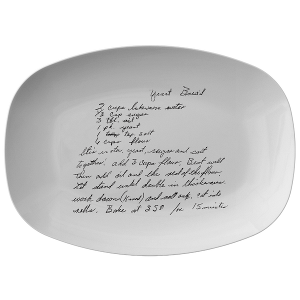 Family Recipe Platter - For Taylor H - 24th Ave Designs