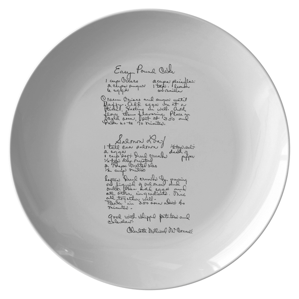 Family Recipe Plate - For Ashley Gomez - 24th Ave Designs