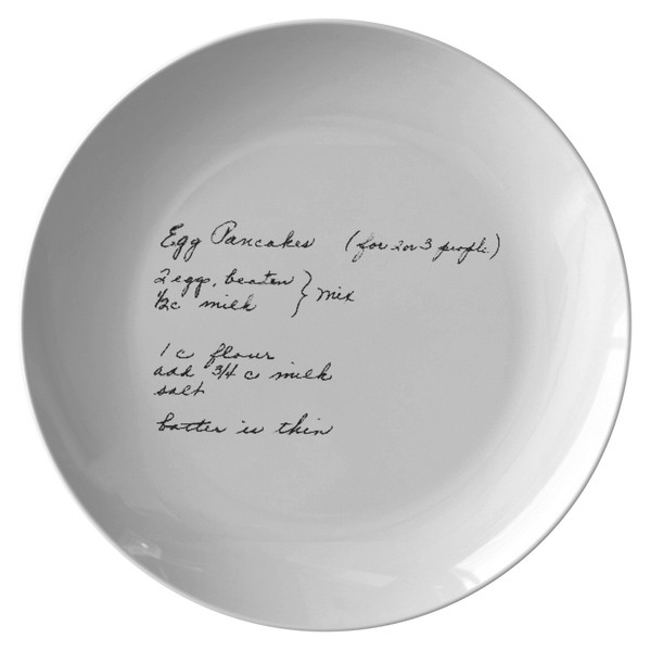 Recipe plate for Schaefer - 24th Ave Designs