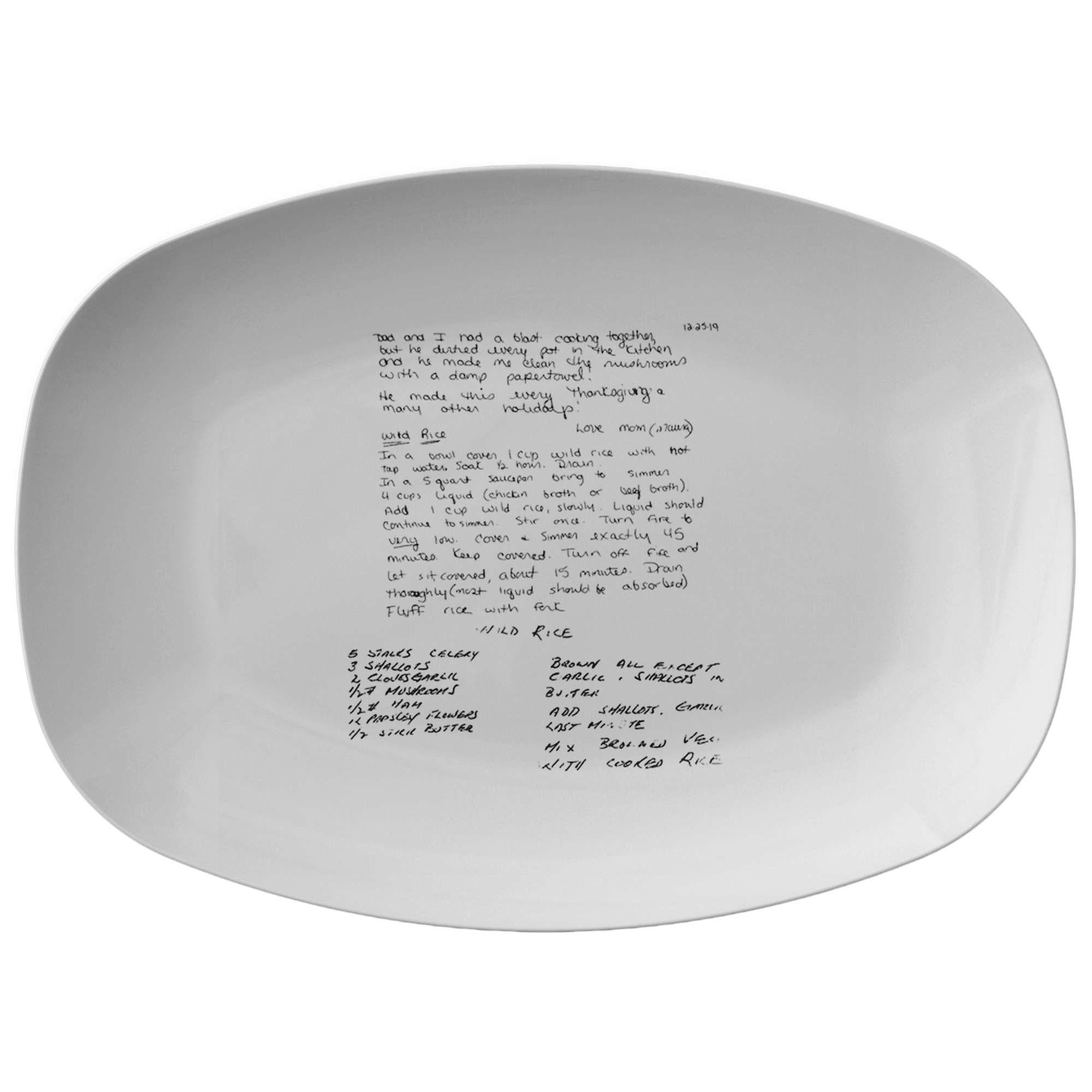 Family Recipe Platter - For Maura-Harrington - 24th Ave Designs