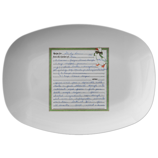 Family Recipe Platter - For Kirsten Cox - 24th Ave Designs