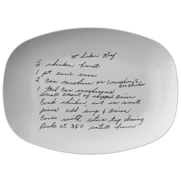 Recipe Platter for Mann - 24th Ave Designs