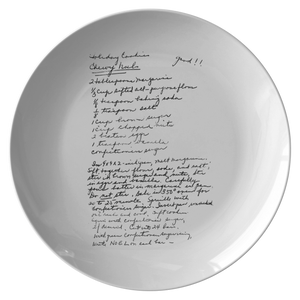 Family Recipe Plate - For Cahill - 24th Ave Designs