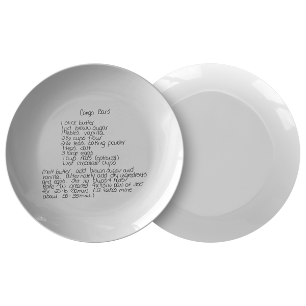 Family Recipe Plate -  - For Cathy C - 24th Ave Designs