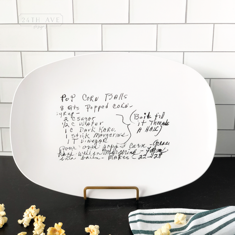 Family Recipe Platter - 24th Ave Designs
