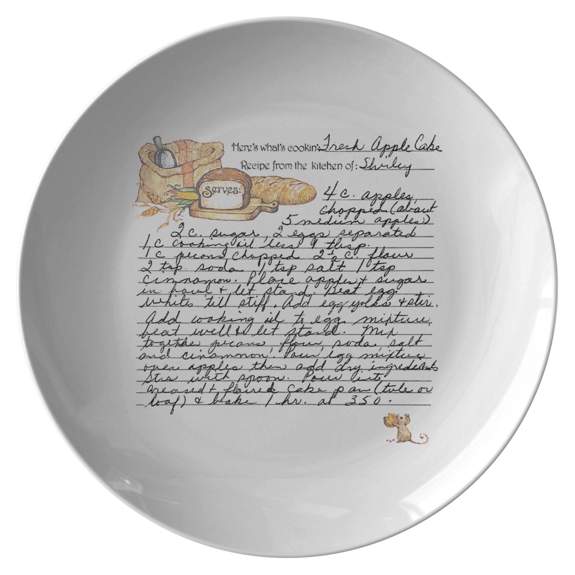 Family Recipe Plate - For Grace Chapman - 24th Ave Designs
