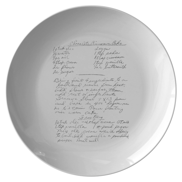 Family Recipe Plate - For Noelle - 24th Ave Designs