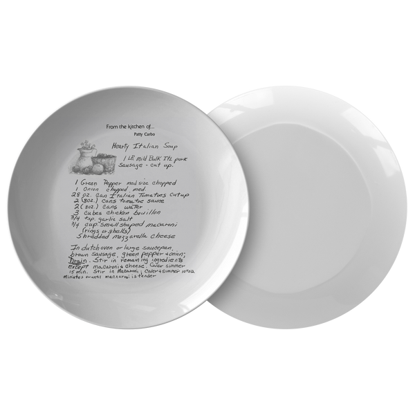 Recipe plate for Kaczor - 24th Ave Designs