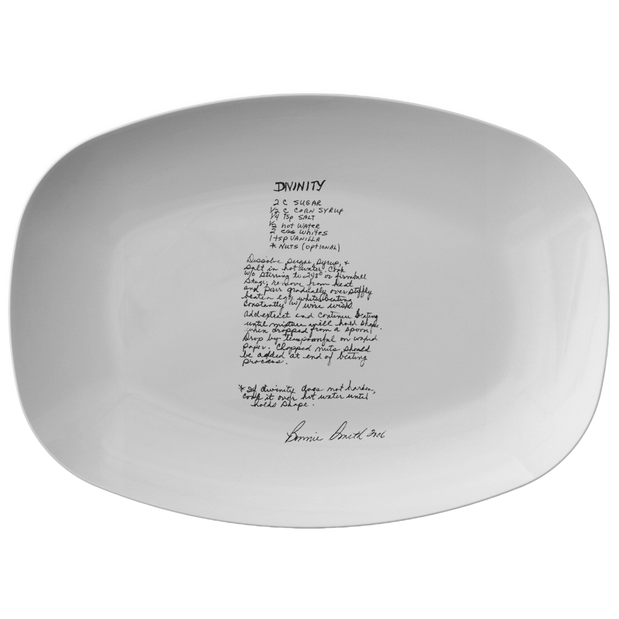 Family Recipe Platter - For Marci M - 24th Ave Designs