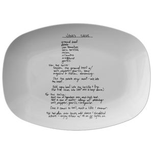 Recipe Platter for Valenzuela - 24th Ave Designs