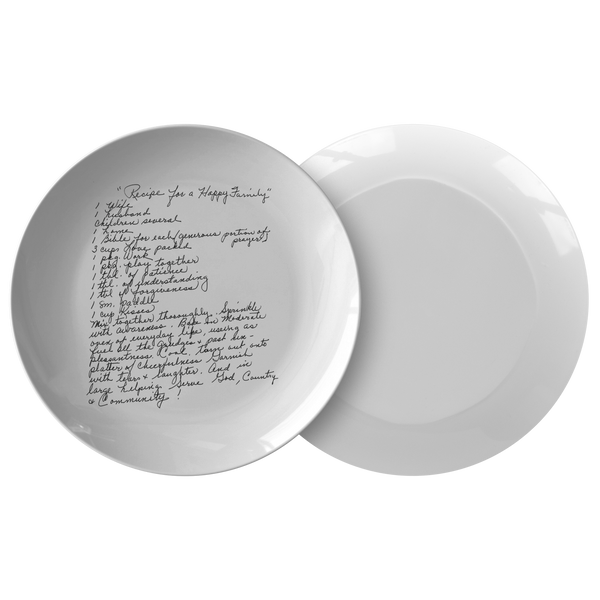 Family Recipe Plate - For Happy Family - 24th Ave Designs