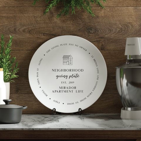 Giving Plate - Personalized - 24th Ave Designs