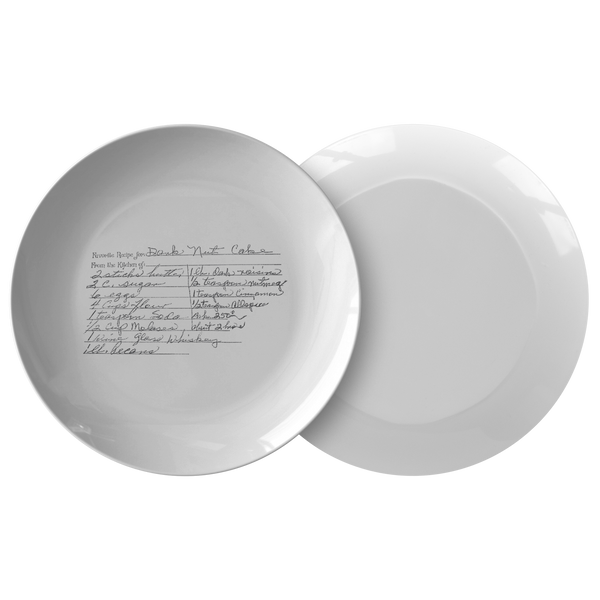 Family Recipe Plate - For Morgan Chase - 24th Ave Designs