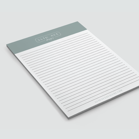 Custom Notepad - 24th Ave Designs