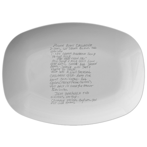 Family Recipe Platter - For Allie Caldwell - 24th Ave Designs