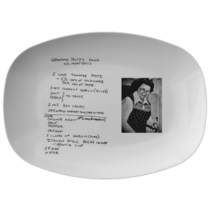 Family Recipe platter for Gagen - 24th Ave Designs